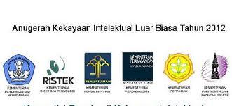 Pengumuman Calon Pemenang Anugerah Kekayaan Intelektual Luar Biasa Tahun 2012