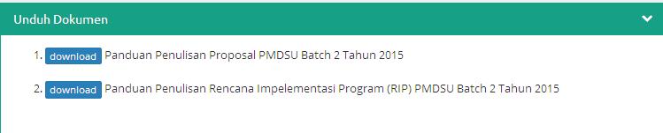 Panduan Pendaftaran Beasiswa PMDSU Batch 2 Tahun 2015